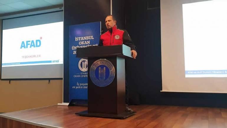 Okan Üniversitesi Temel Afet Bilinci Konferansı